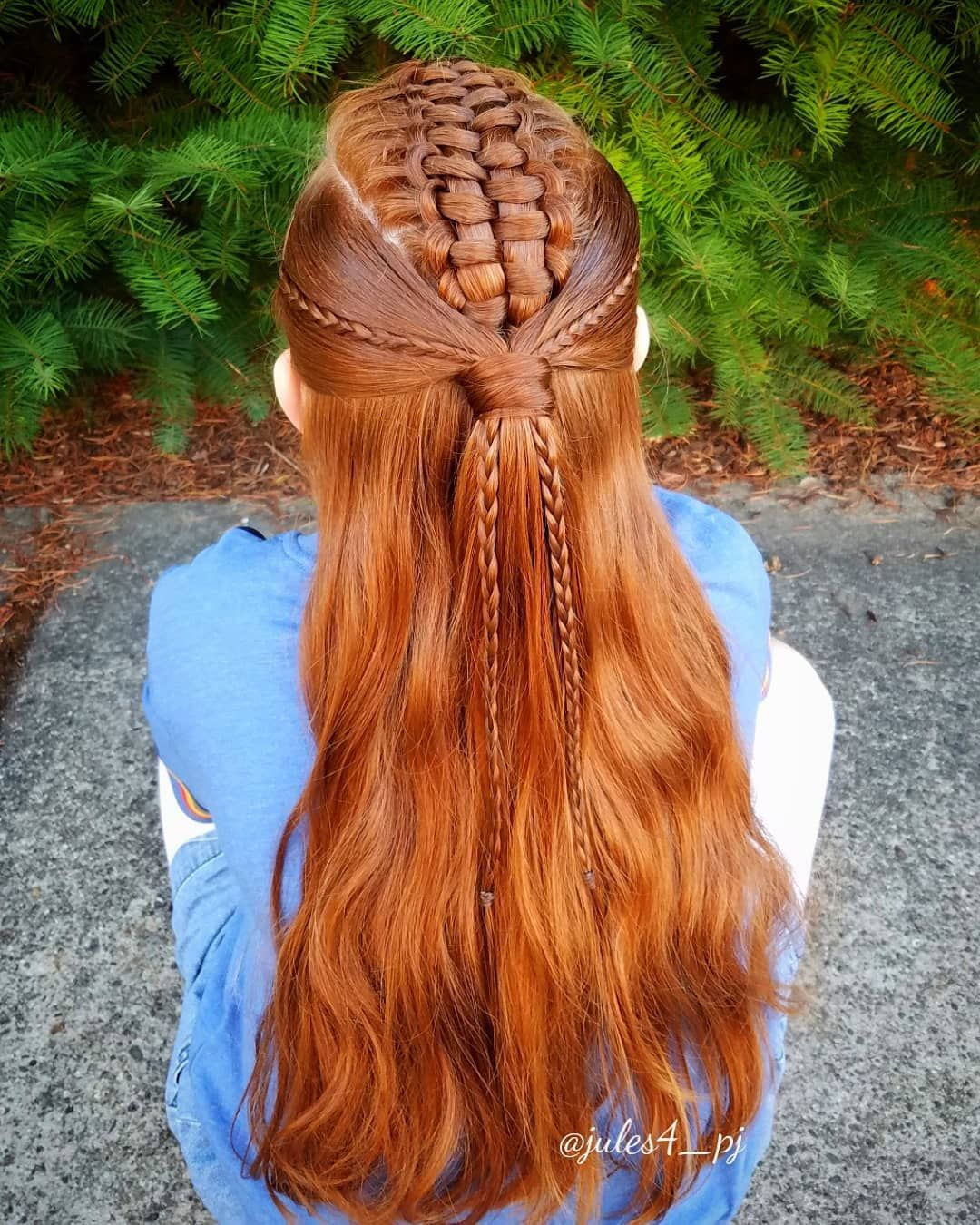 Zipperbraid Accent Braids Halfup Hairstyles Braid Combos School Hair Braids For Kids Cute Girl Hai Redhead Hairstyles Hair Styles Kids Braided Hairstyles