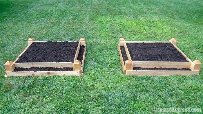 DIY Tiered Raised Garden Bed Plans