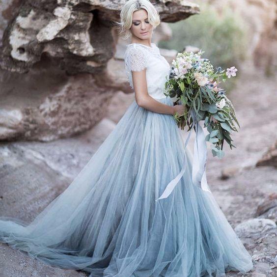 Wedding Dress This Ice Blue