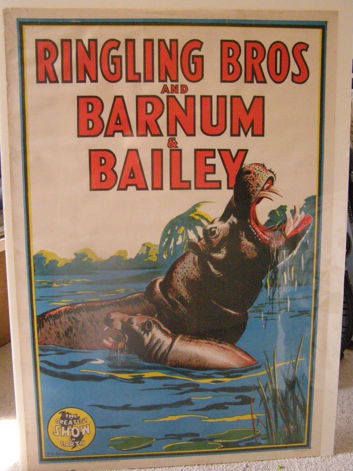 Vintage Circus Poster Tiger