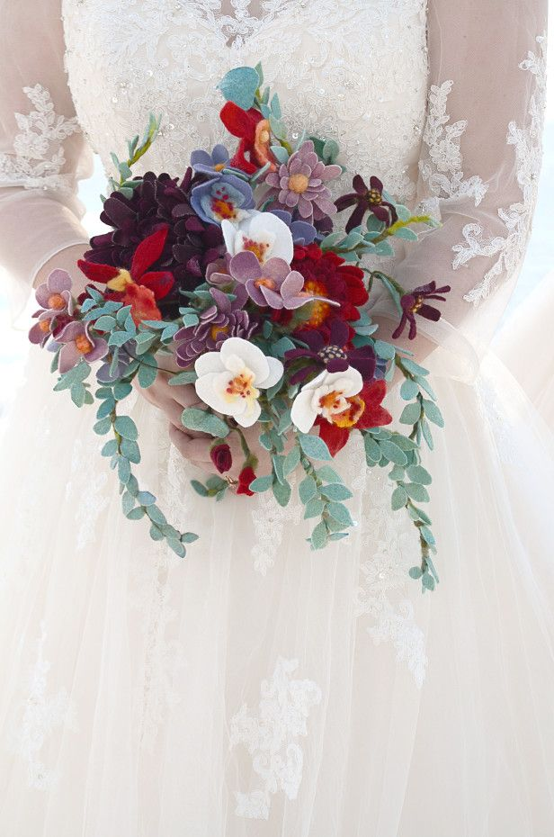 A wedding bouquet you can keep forever! Learn how to make this ...