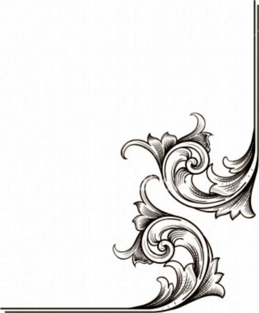 SCROLLS Art - Borders Pinterest Scroll design, Stencils and