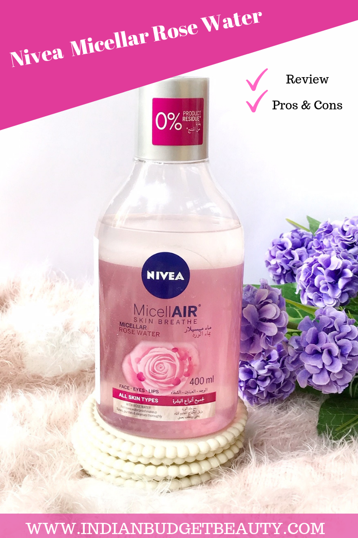Nivea Skin Breathe Micellar Rose Water Review Under Rs 500