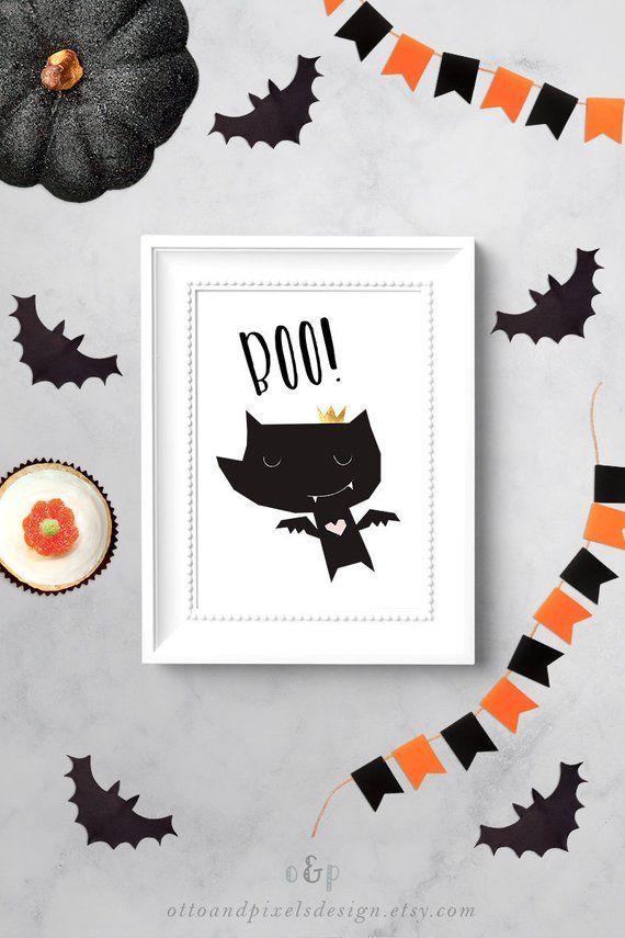 Halloween art, art for kids, baby wall art, Halloween decor