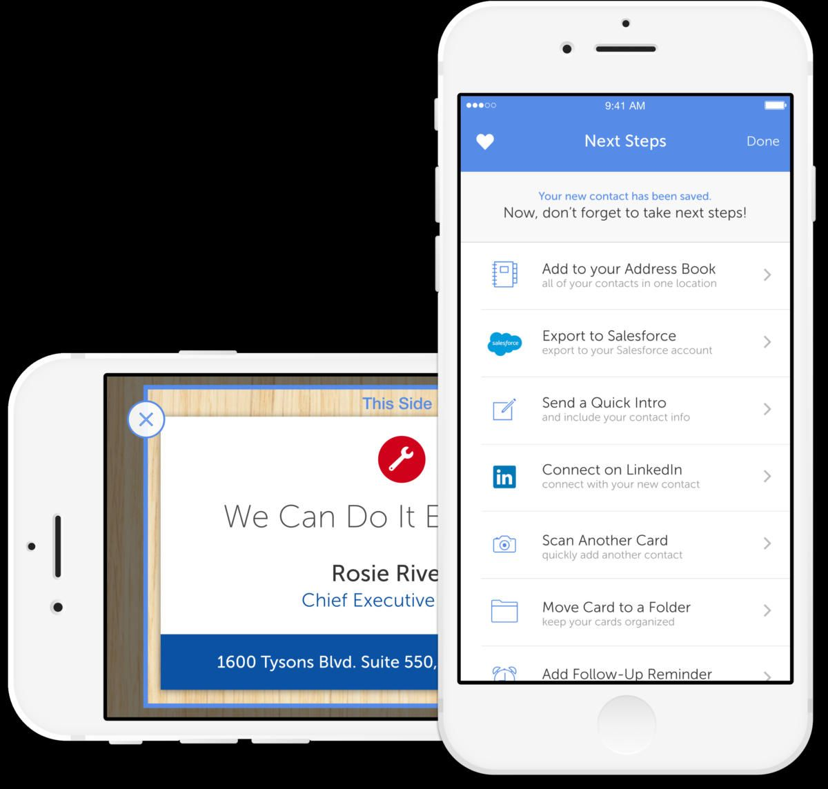 5 Apps To Help You Digitally Organize Business Cards Macworld Business Card Scanner Business Card App Business Card Organizer