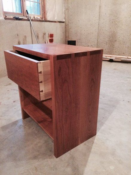 Dovetailed Cherry Bedside Table