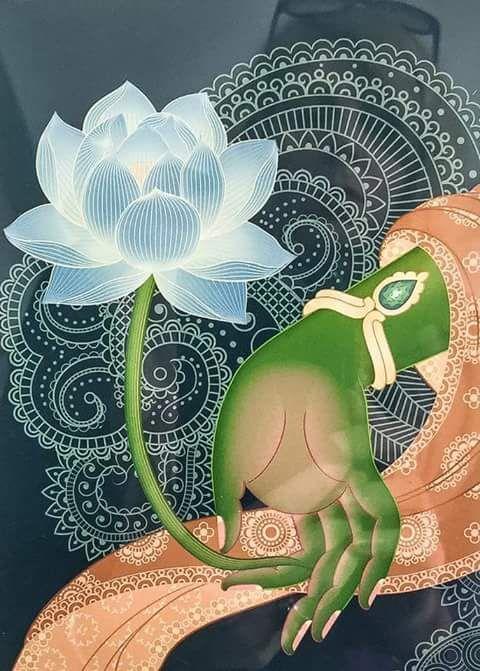 Green Taras Hand Mudra Thai Painting Buddha Art Buddhist Art