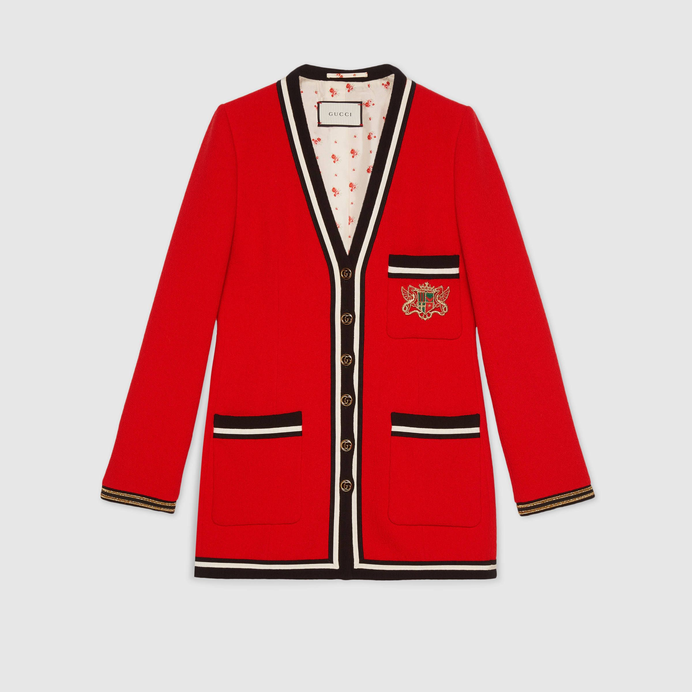 Wool Sable Jacket With Crest Applique Gucci Jackets 509052zkd756266 Jackets Jackets For Women Womens Blazers [ 2400 x 2400 Pixel ]