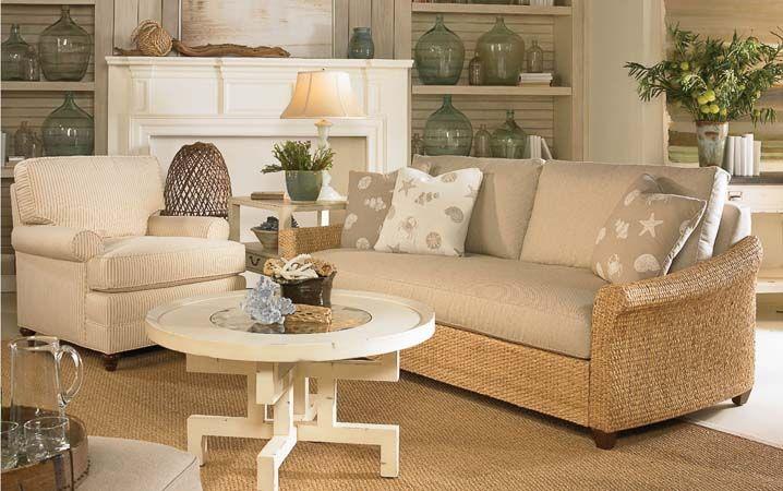 vanguard furniture coastal living sea cottage chair living room