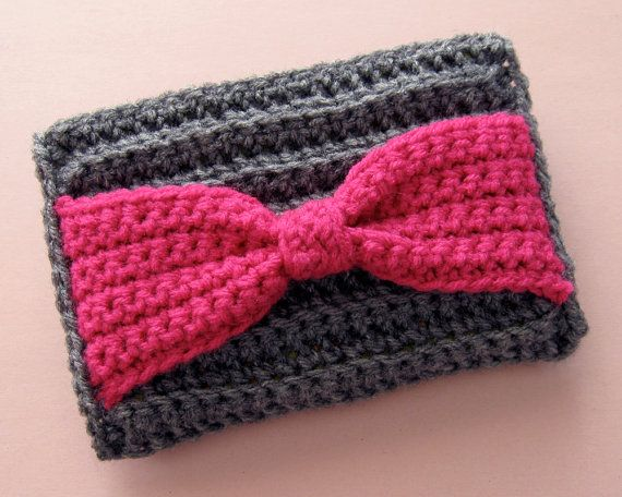 Bow Clutch Crochet Pattern by Speckless on Etsy, $5.00