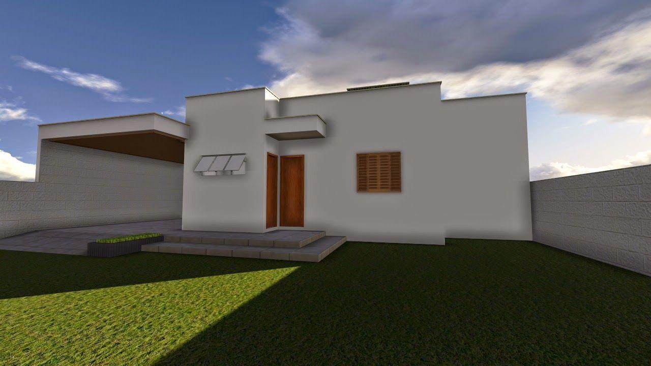 Planta de casa t rrea com 2 quartos e closet casa for Casa moderna 90m2