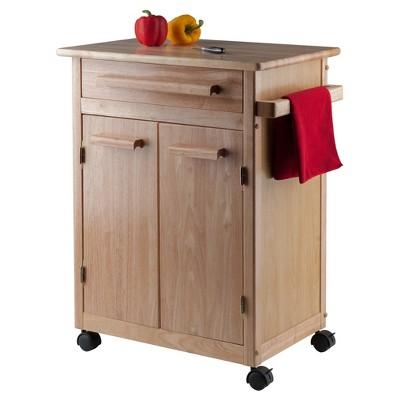 Hackett Kitchen Cart   Natural   Winsome, Wood