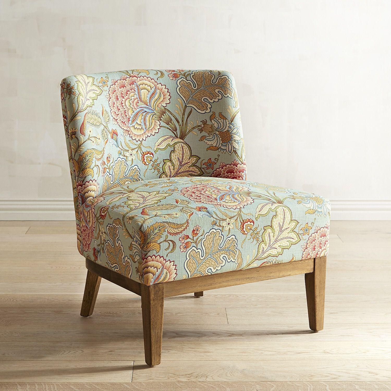 Corinne Blue Floral Chair | Floral chair