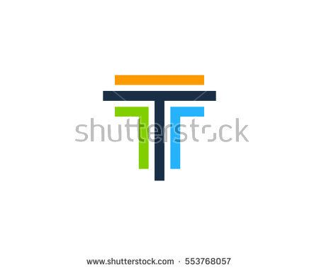 Letter T Circle Colorful Logo Design Stock Vector 553768549 ...