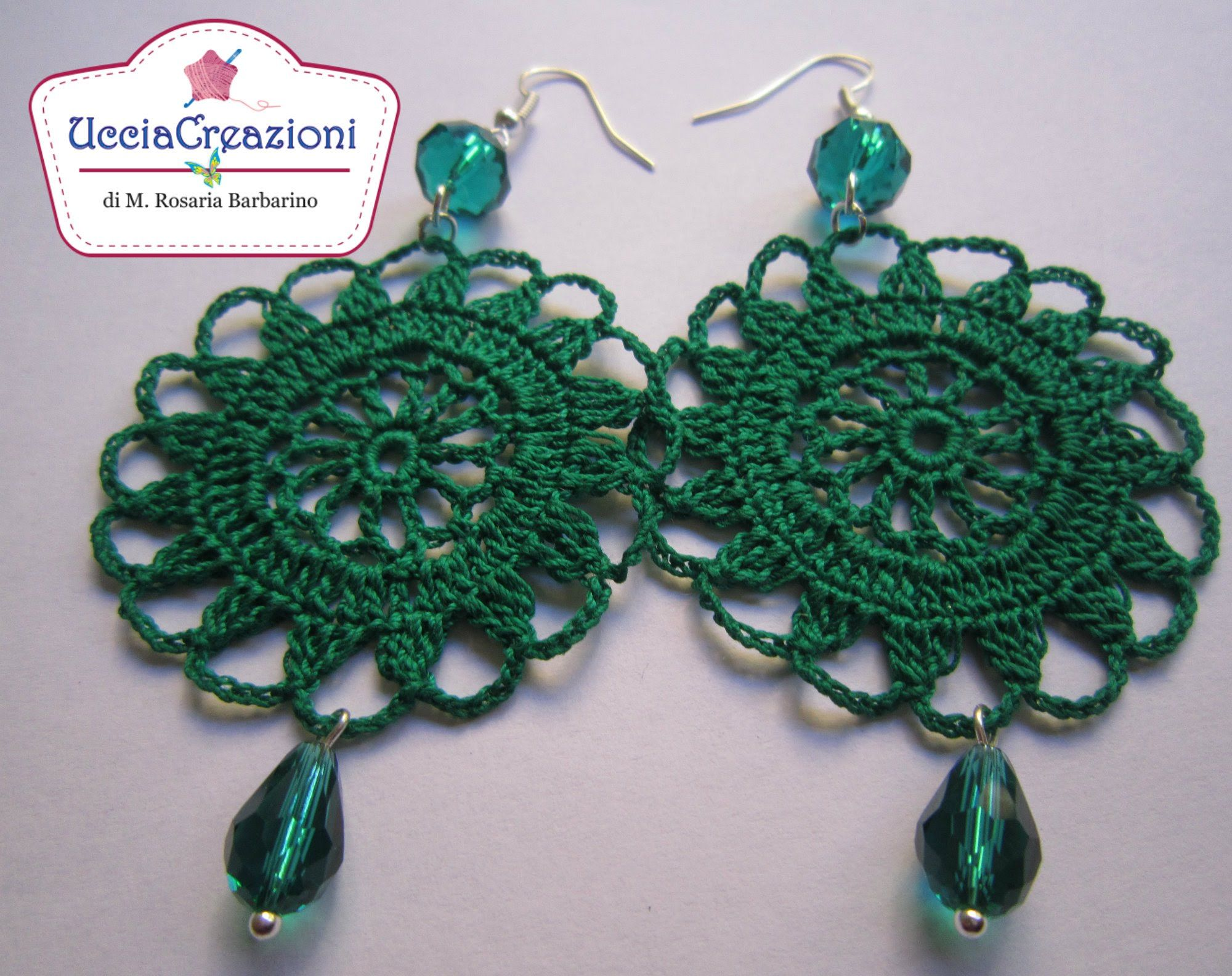 TUTORIAL 2 . * ORECCHINI TONDI ALL\' UNCINETTO * HOW TO do EARRINGS ...