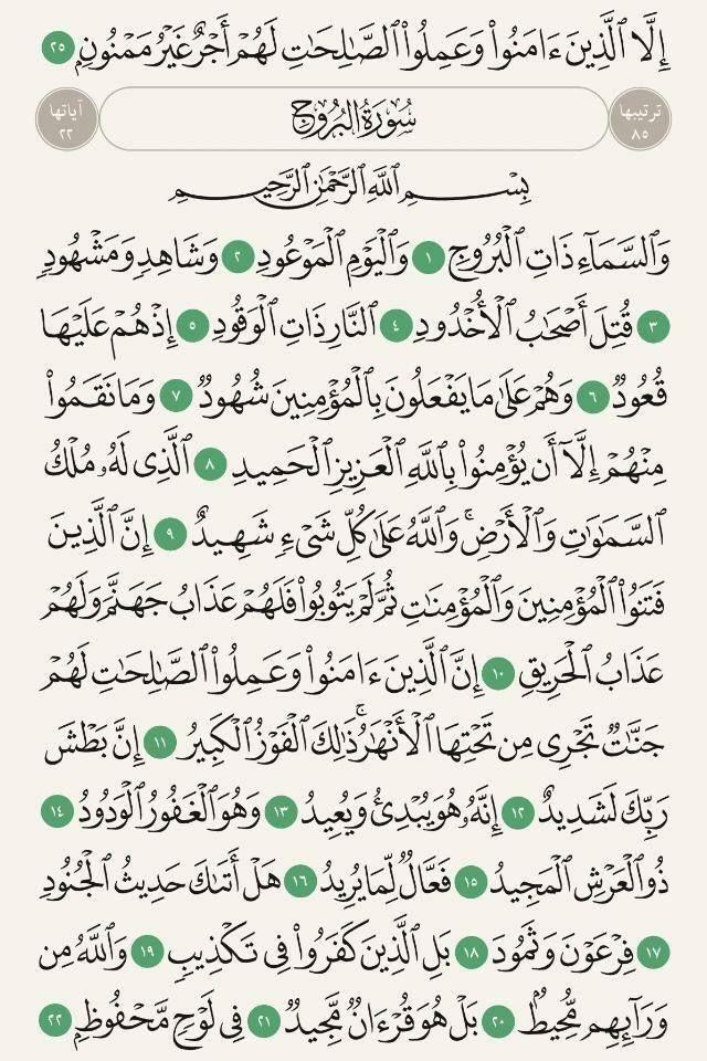 سورة البروج Islam Math Bullet Journal