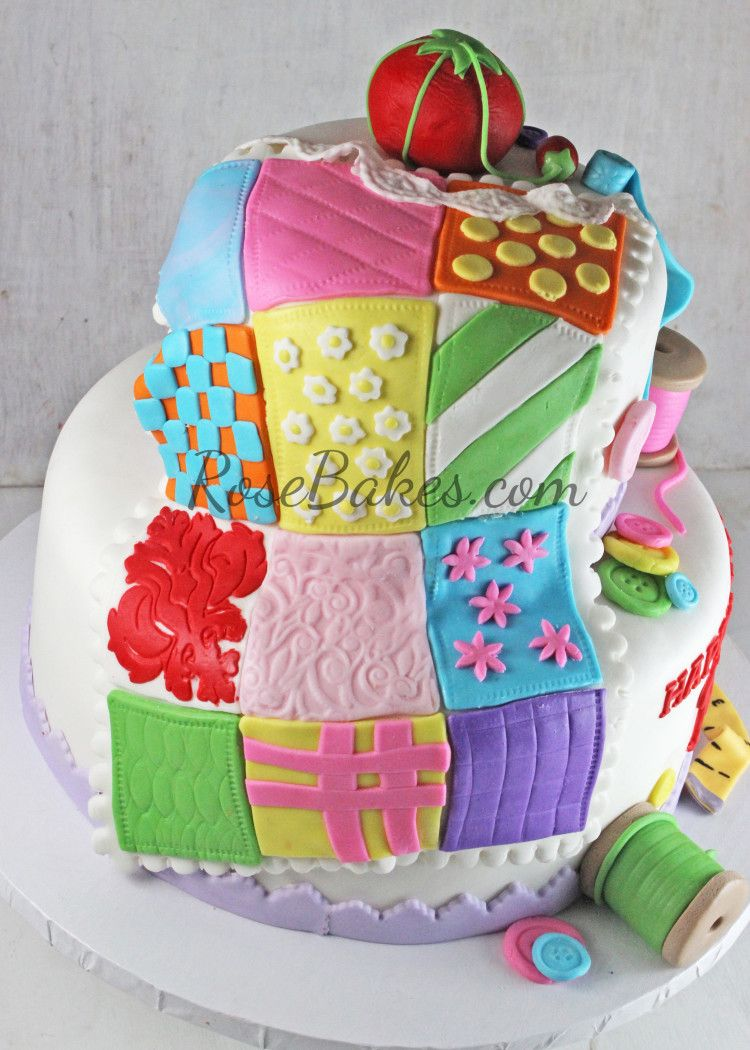 70th Birthday Sewing & Quilting Cake | Cake and Birthday cakes : quilting on a cake - Adamdwight.com