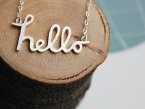 Hello Necklace in Sterling Silver