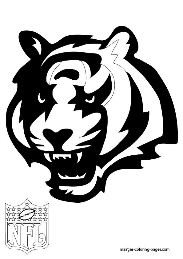 Cincinnati Bengals Logo Coloring Pages | Coloring pages | Pinterest ...