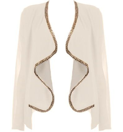Chain Linked Cardigan | Chains, Sheer chiffon and High low