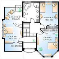 مخطط منزل جزائري House Plans House Floor Design Little House Plans