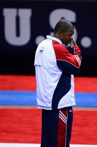 John Orozco reacts after being named to the Olympic Team more see image link
