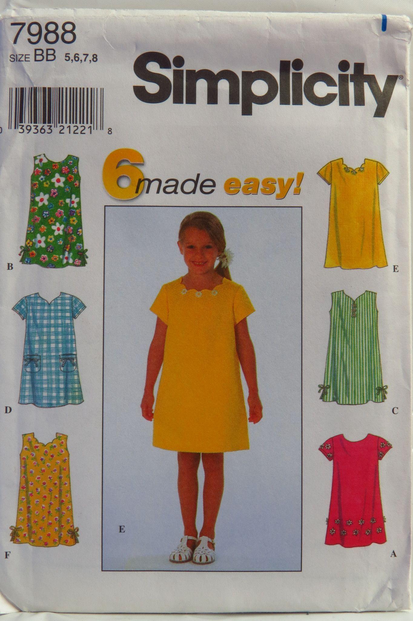 Simplicity childus dress rowan pinterest kids dress