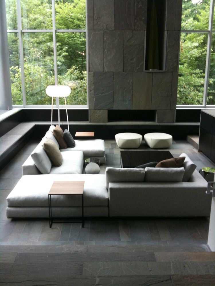 Couch modern  Sunken Designs Let You Explore The Depths Of Style | Undercounter ...