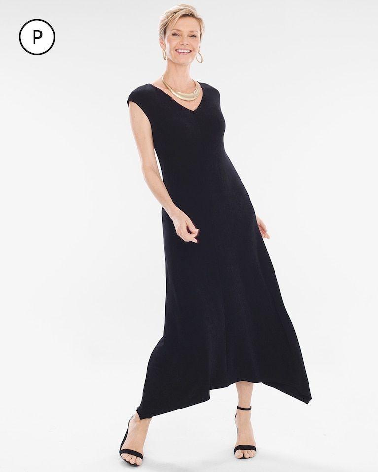 2c2a712ab5 Chico s Women s Travelers Classic Petite V-Neck Dress