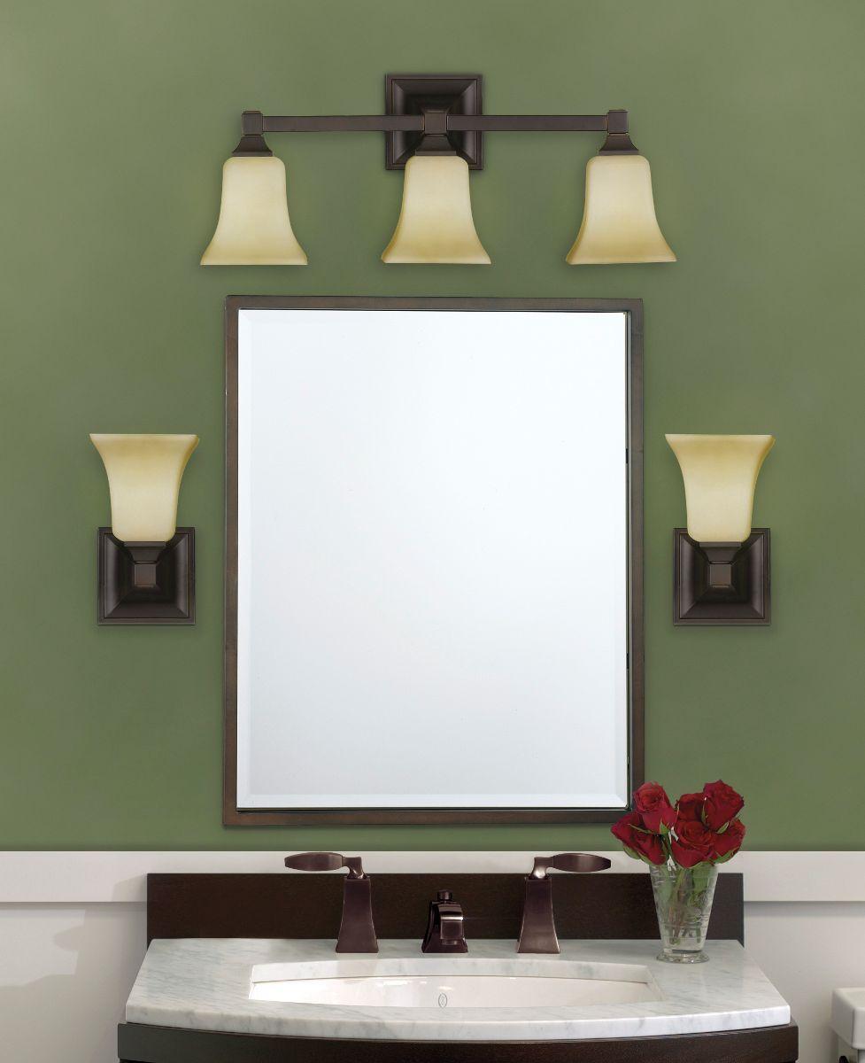 Bathroom sconces over mirror | ideas | Pinterest | Bathroom sconces ...