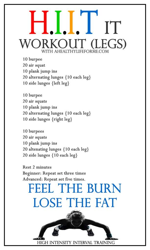 HIIT Workout Leg Blaster » A Healthy Life For Me