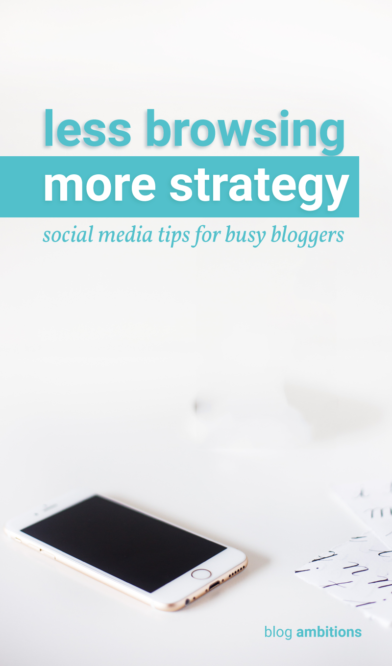 Being on social media is key to blogging success, but it can also be a huge time suck. Learn how to be more intentional with your social media marketing.