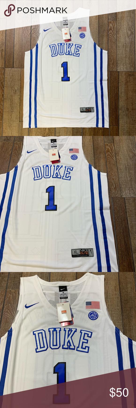 ed34e9955be NWT Zion Williamson Duke Blue Devils Jersey 🔥🔥💯 Brand New   Perfect  Condition Zion Williamson  1 Duke Blue Devils Official   Authentic College  NCAA Men s ...