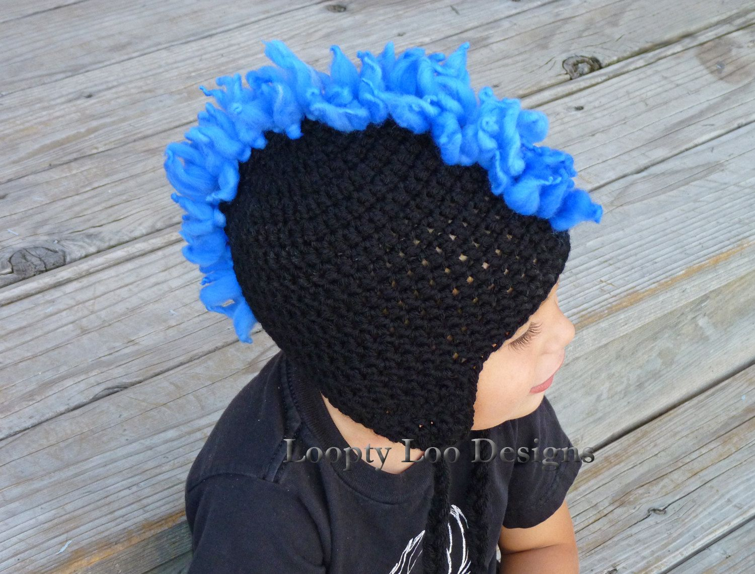 Crochet hat with mohawk mohawk hat photo prop earflap hat baby crochet hat with mohawk mohawk hat photo prop earflap hat baby boy handmade sizes 12 months and up more color options bankloansurffo Gallery