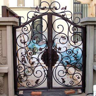 Pas cher Grilles en fer forgé portes en fer forgé patio portes de ...
