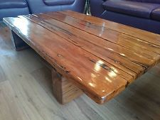 wooden coffee table - rustic rhodesian ironwood railway sleepers