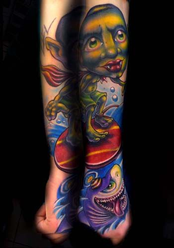 13 Tattoo Artists Share Some Of The Beautiful Flower: Josh Woods - Black 13 Tattoo,Nashville TN