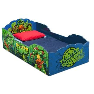 nickelodeon teenage mutant ninja turtles wood toddler bed free shipping today overstock com