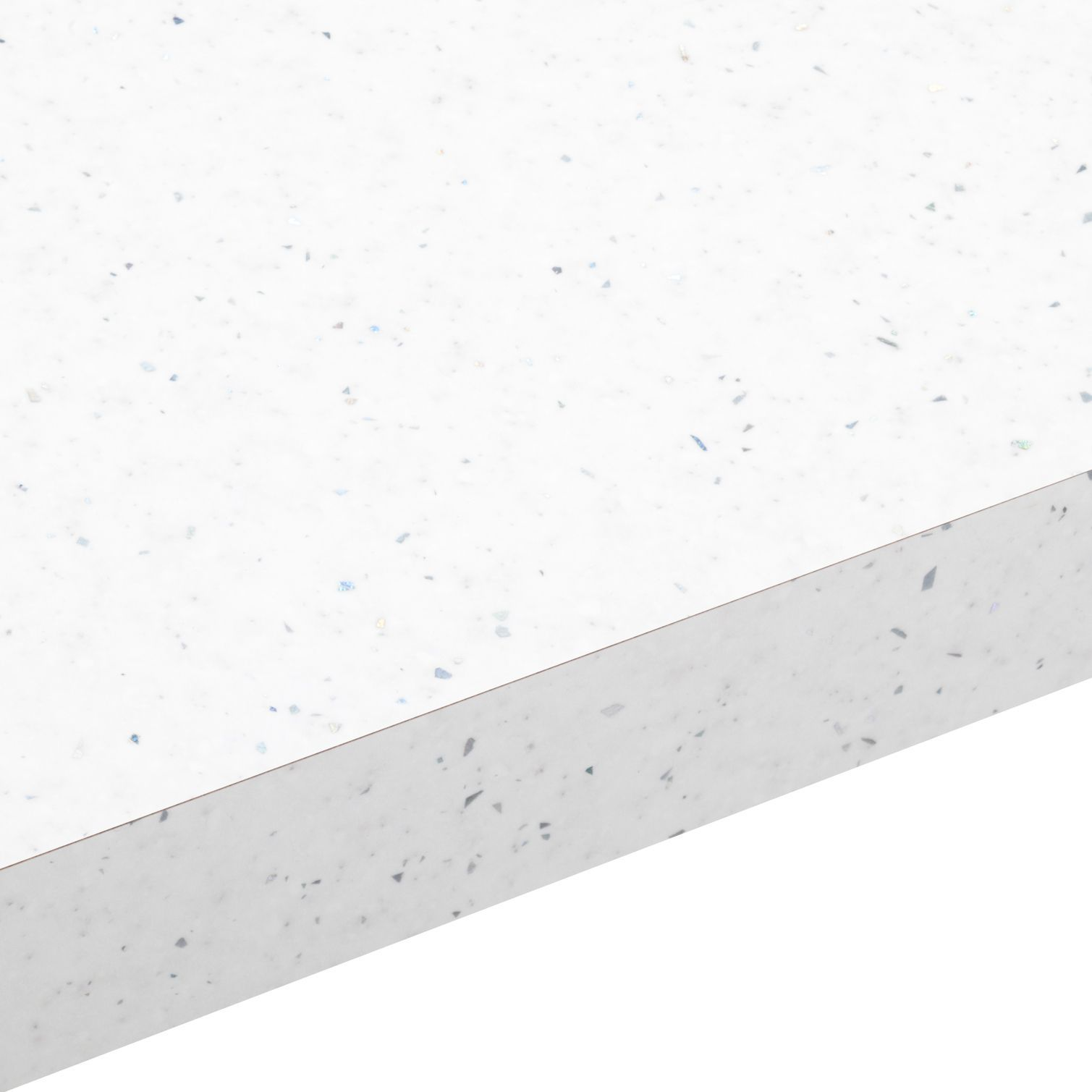 38mm Astral White Laminate Gloss Square Edge Worktop L