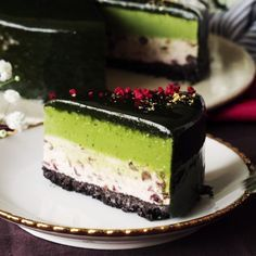 Matcha Adzuki Mousse Cake