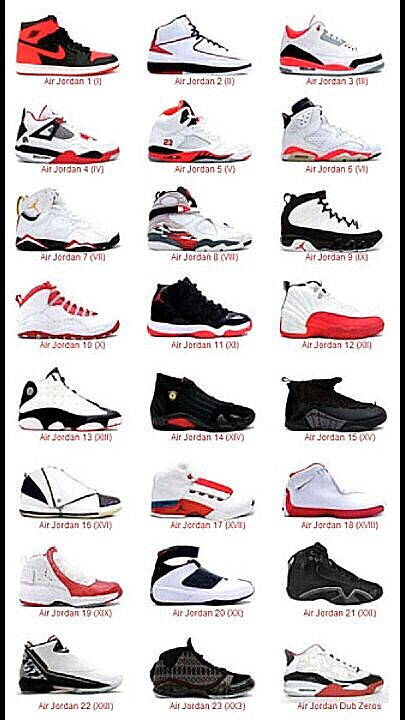 huge selection of c3565 1341e The Jordan s in Order from 1-23 I need at least one pair of each