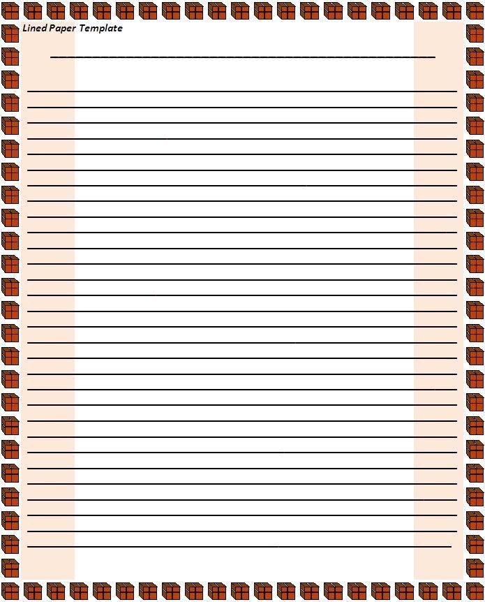 Lined Paper Template and Page Border Design 2014 sadiakomal Border
