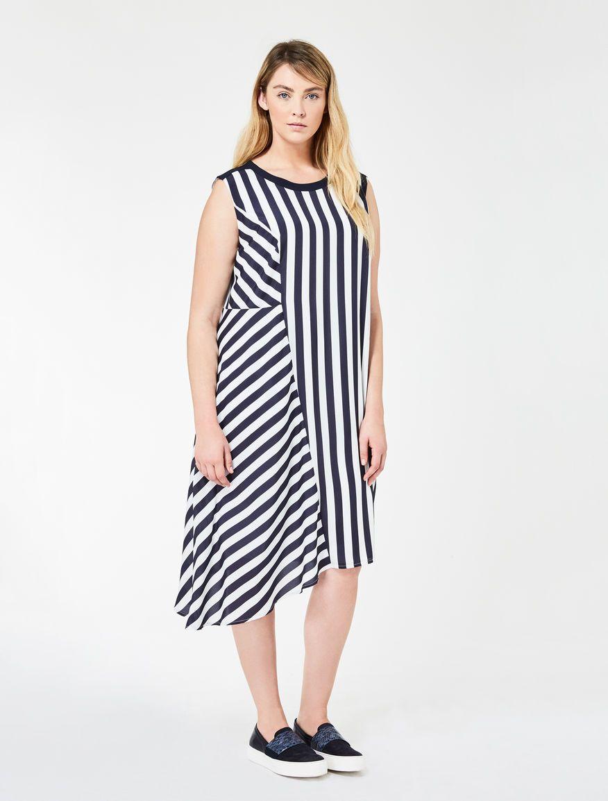 3d98f7a84b2 Marina Rinaldi DISPARI white: Asymmetrical printed crêpe dress. | S/S 2017  | Pinterest | Marina rinaldi