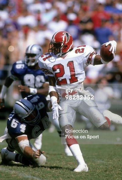 Defensive back Dion Sanders of the Atlanta Falcons… 71dd9c3927c