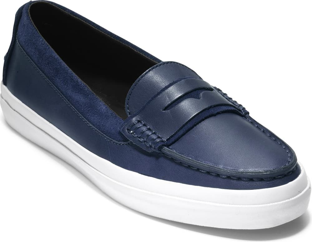 An easygoing penny loafer is updated with higher sides and ...