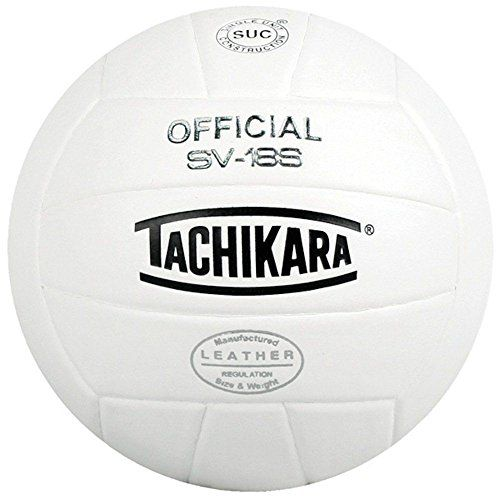 Tachikara Sv18s Composite Leather Volley Ball White Tachi Volleyballs For Sale Volleyball Fun Sports