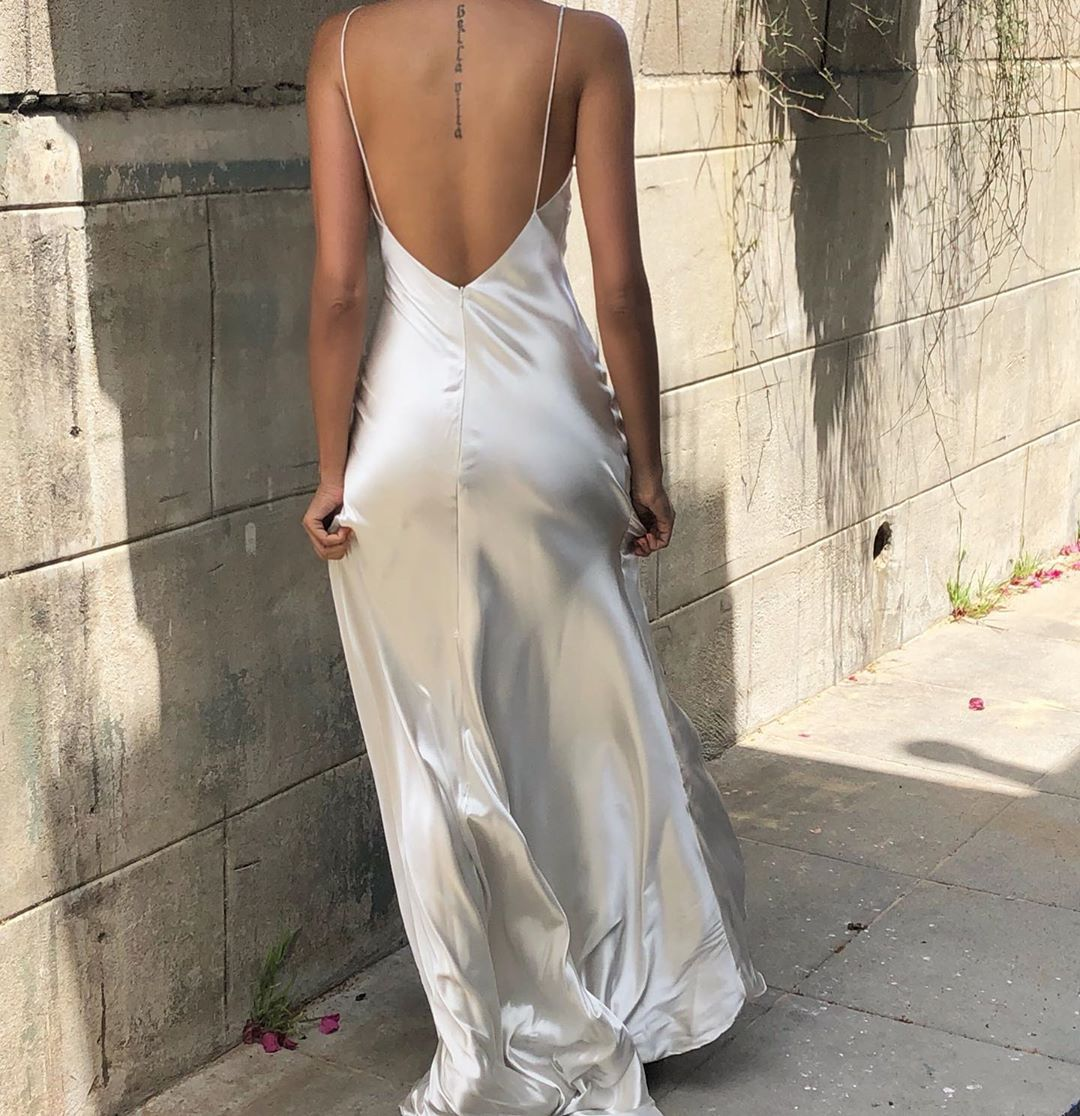 Stunning Vintage Silver Silk Slip Dress Style Fashion Vintage Vintagestyle Spring Springstyle Matric Dance Dresses Silk Slip Dress Slip Wedding Dress [ 1116 x 1080 Pixel ]