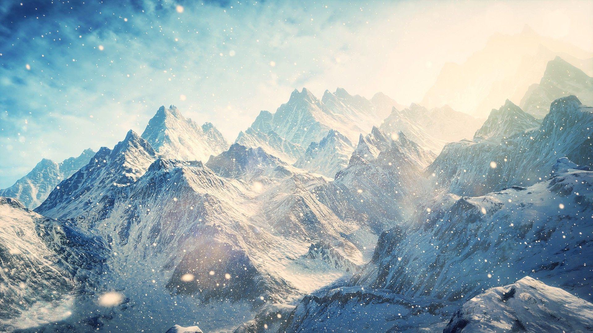 Snow Mountains Nature & Landscape desktop wallpapers 1