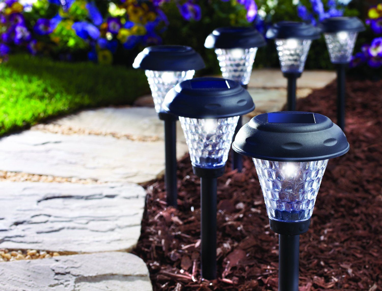 Moonrays 91381 Payton SolarPowered Plastic LED Path Light