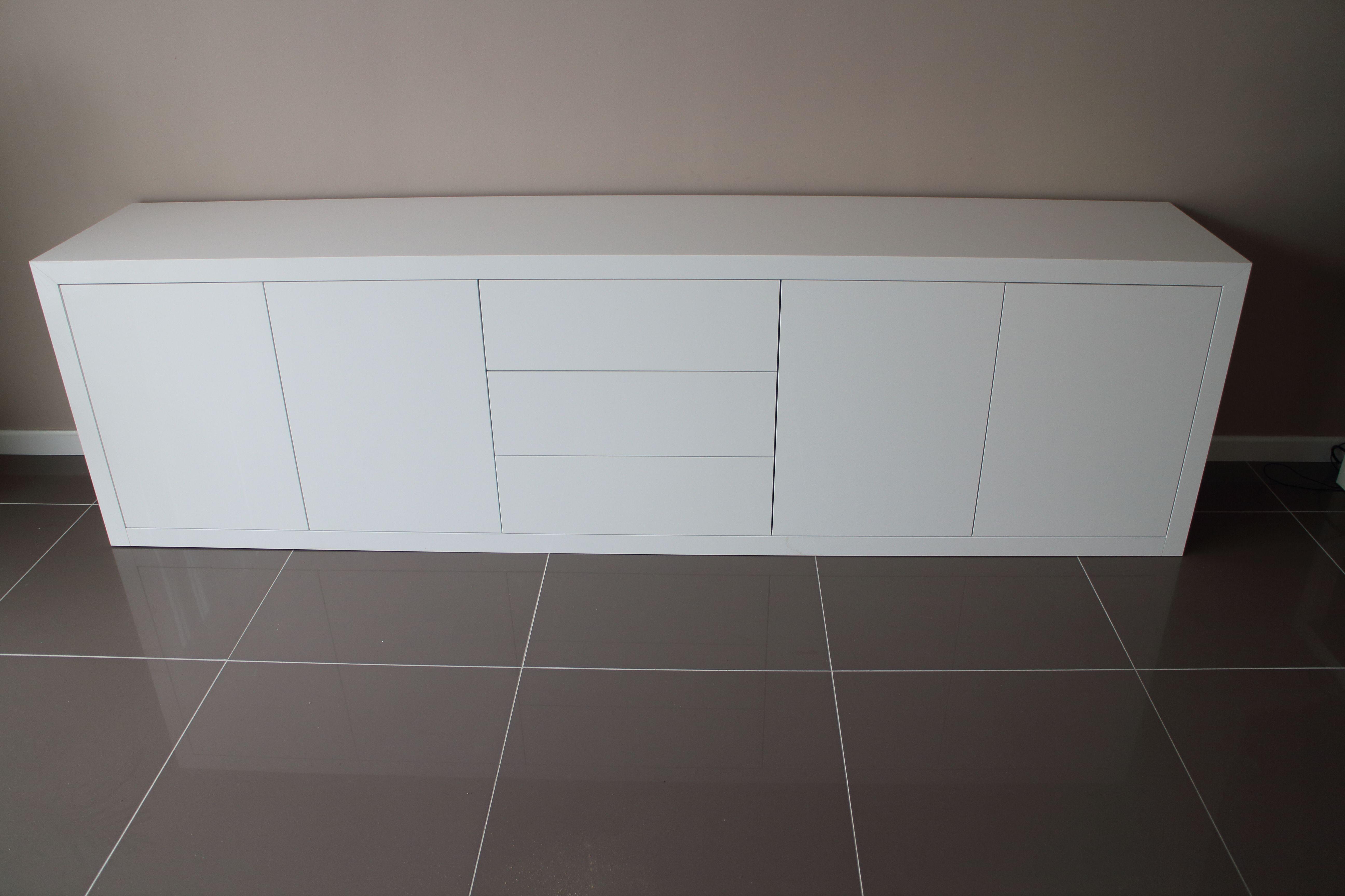 Mat wit dressoir op maat dressoirs op maat pinterest for Sideboard 3 meter lang